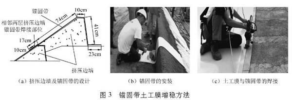 浅析水库坝面土工膜的抗滑增稳设计